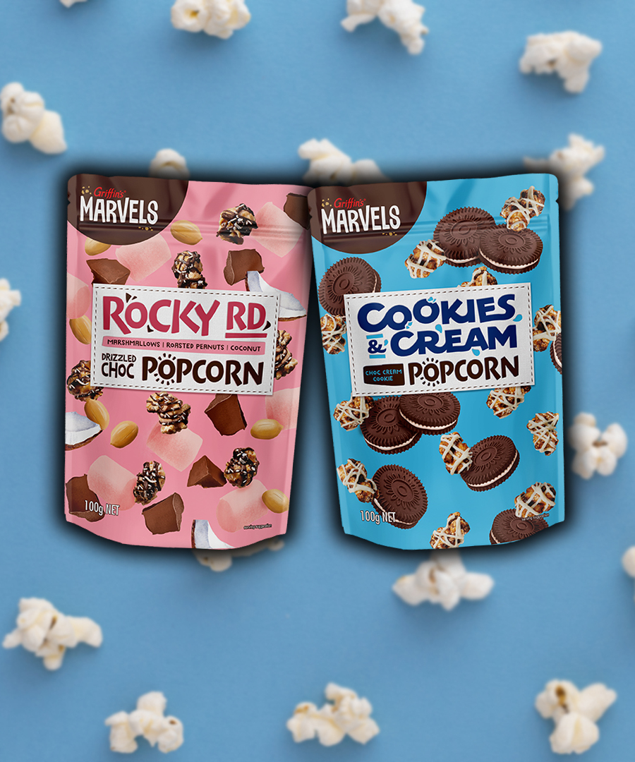 You Can Now Buy Rocky Road AND Cookies & Cream Chocolate Flavoured Popcorn!   973FM