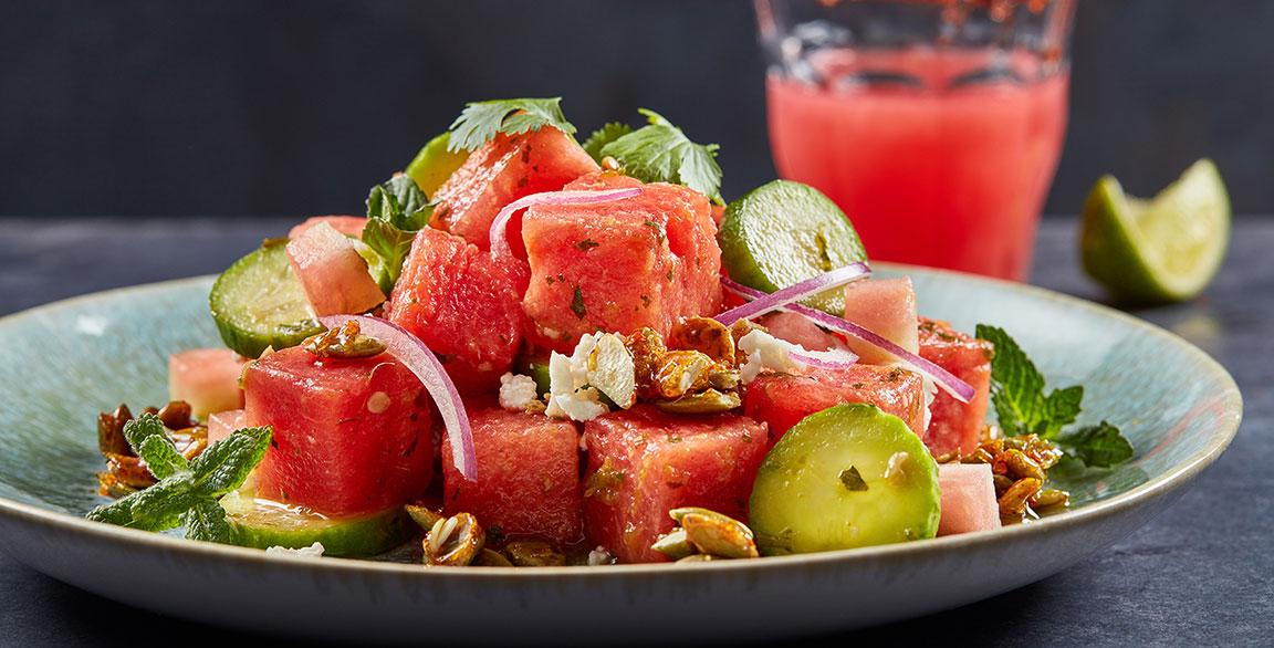 Smoked Watermelon Salad | Flavor & The Menu