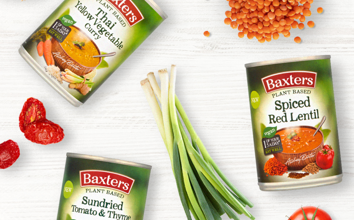 Baxters adds new flavours to tinned plant-based soup range   FoodBev Media