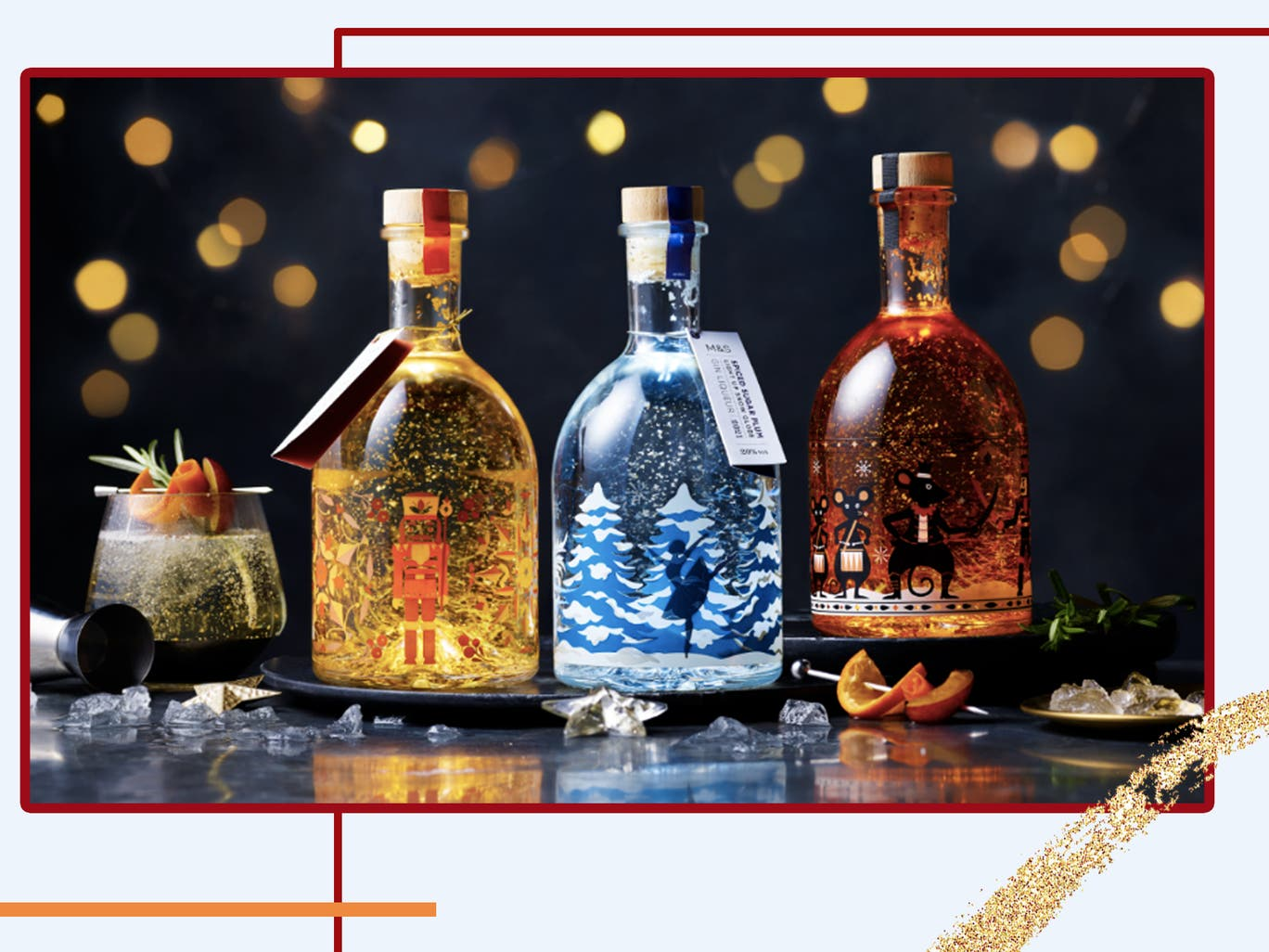 M&S's sell-out Christmas snow globe gins are back with two new flavours | The Independent